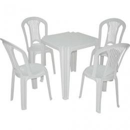 Kit Conj. PVC 1 Mesa e 4 Cadeiras