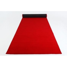 Passadeira Vermelha Veludo 10X1M