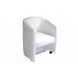 Poltrona Concha Courino Branca