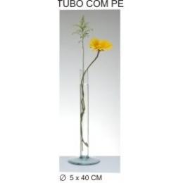Tubo Vidro Com Pé 40Cm