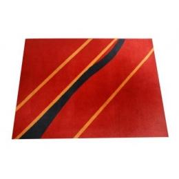 Tapete 1,50X2,00M Vermelho_Amarelo_Preto- Coral