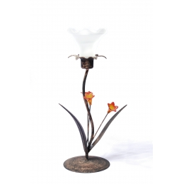 Castiçal Flor De Mesa P/ 1 Vela H:0,29M