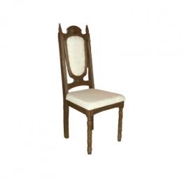 Cadeira Rustica Marrom Estofado Baixa Trigo