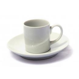 Xicara Cafezinho Porcelana C/ Pires 70Ml
