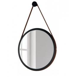 Espelho Escandinavo C/ Cinto de Couro Sintético D:0,54M